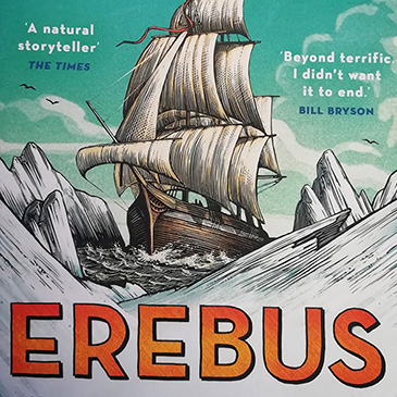 featured image for the review post of the book Erebus, by Michael Palin